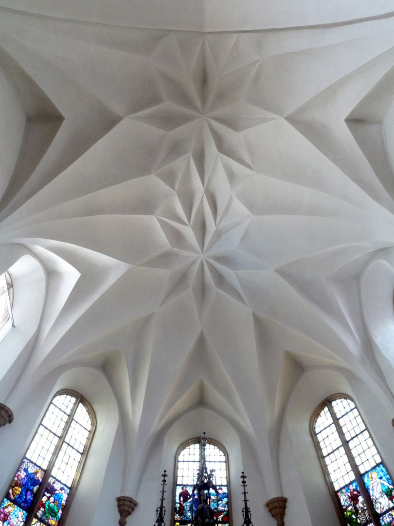 Friedenskirche (Church of Peace) Choir, view of the cellular vault. In World War II the nave burned down, however, the choir was preserved in the original condition.