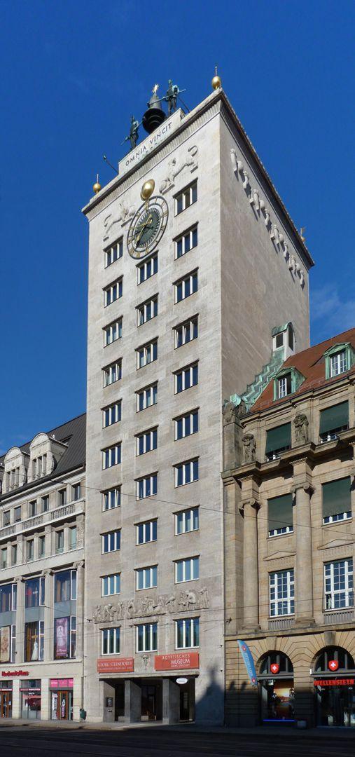 Bank Tower Block Kroch (Leipzig) General view