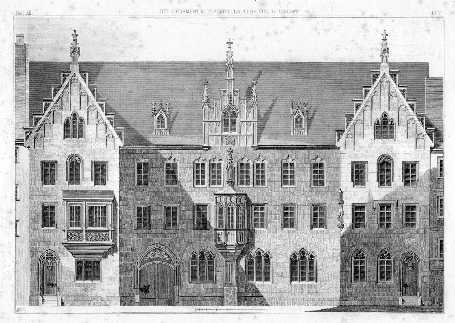 St. Lorenz-Church-Vicarage St. Lorenz-Church-Vicarage, engraving from his book on ornamentation in the Middle Ages (new edition). With its strict symmetry it is a completely classical building with incorporation of a small chörlein.