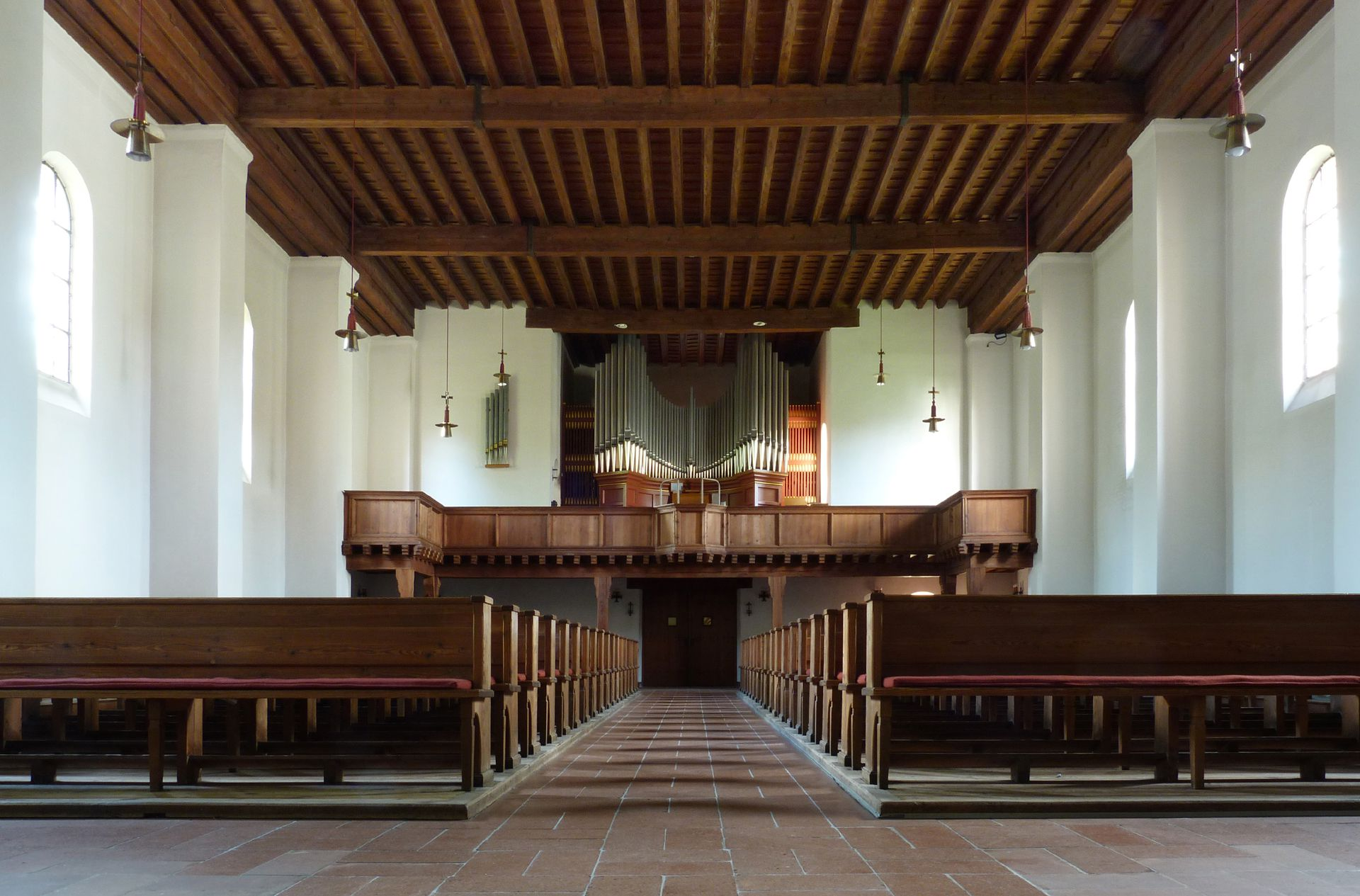 Melanchthon-Church Interior, view to the entrance