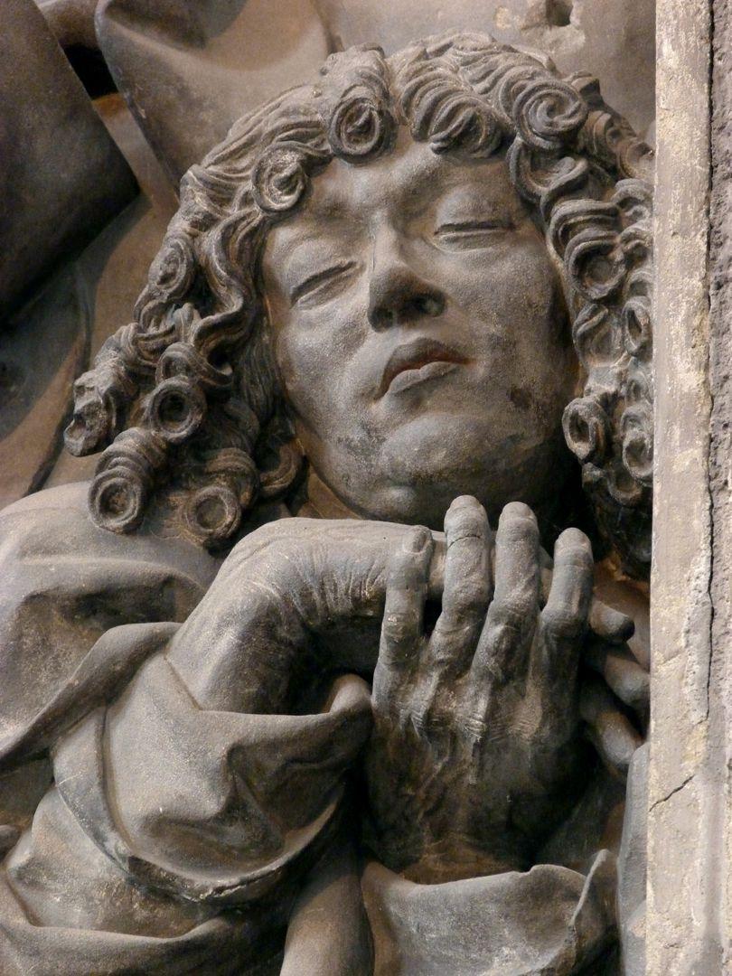 Volckamer Memorial Foundation, relief plates Prayer on the Mount of Olives, detail: John sleeping