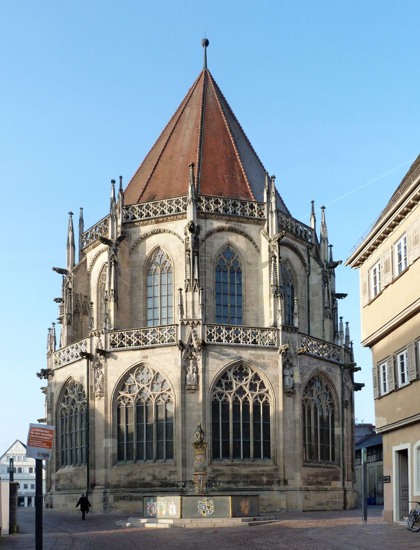 Schwäbisch Gmünd, Minster of the Holy Cross choir from the east Choir from the east