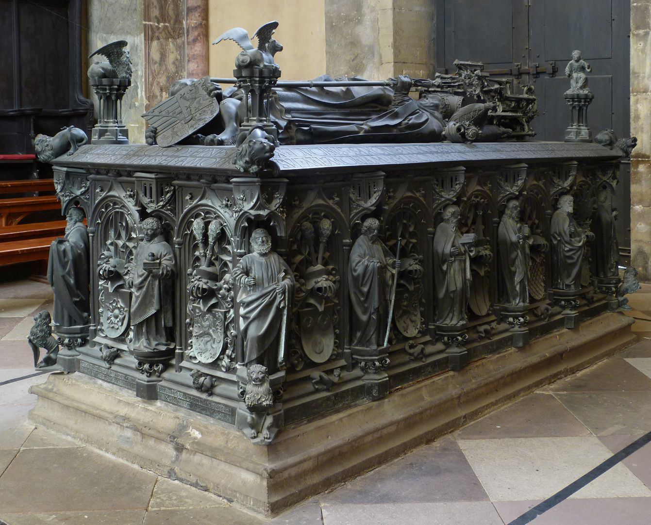Tomb of the Archbishop Ernest of Saxony View from the south east