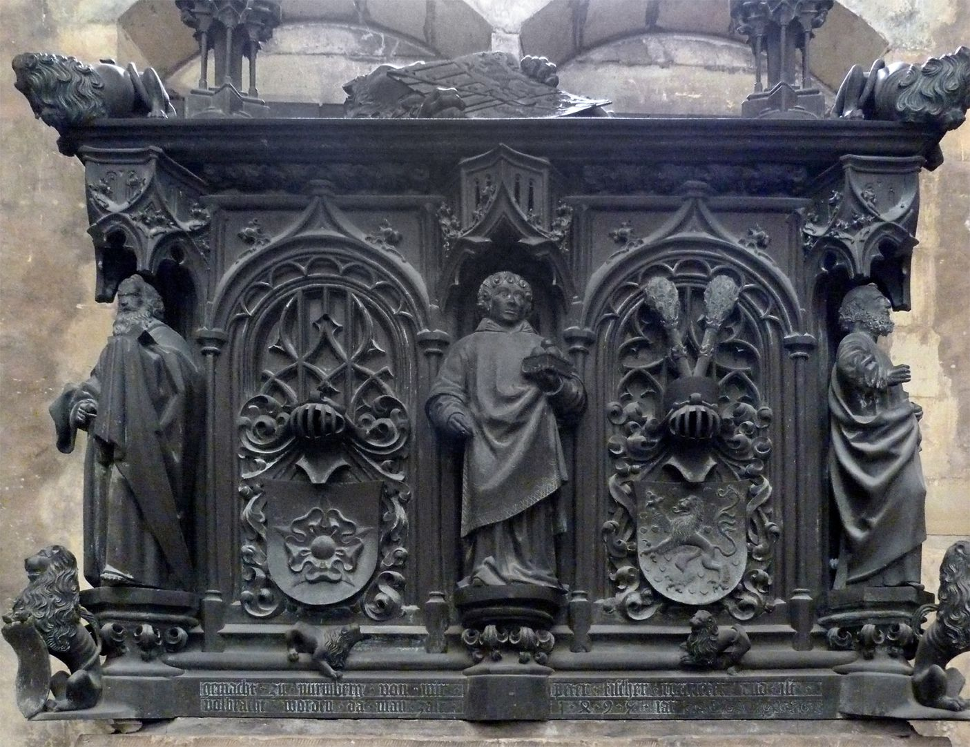 Tomb of the Archbishop Ernest of Saxony Tomb, east side with Stephanus in the centre