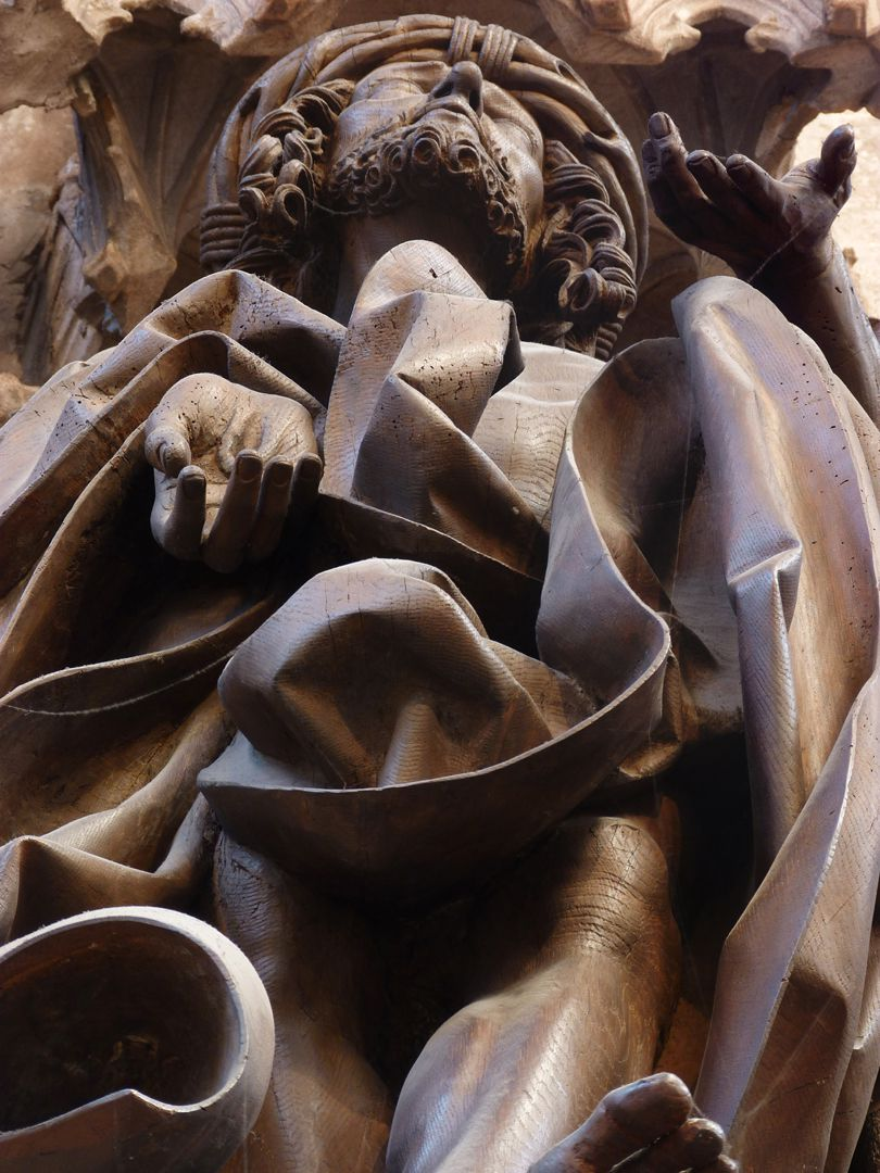 Volckamer Memorial Foundation, Man of Sorrows Man of Sorrows, detail: Whirl of clothes