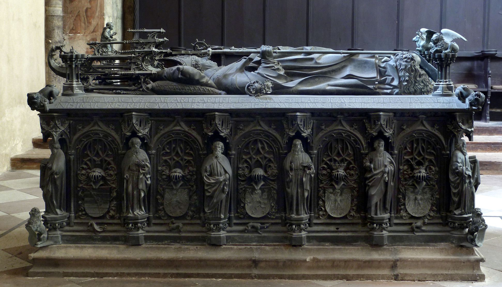 Tomb of the Archbishop Ernest of Saxony View from the north