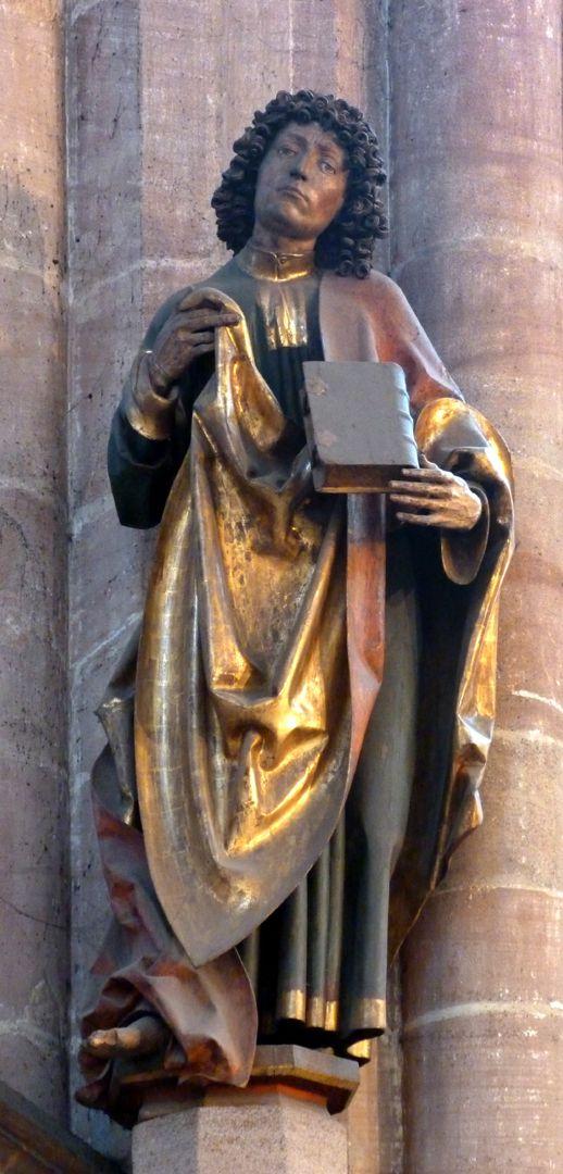 Assistant figures Choir pillar with St. John