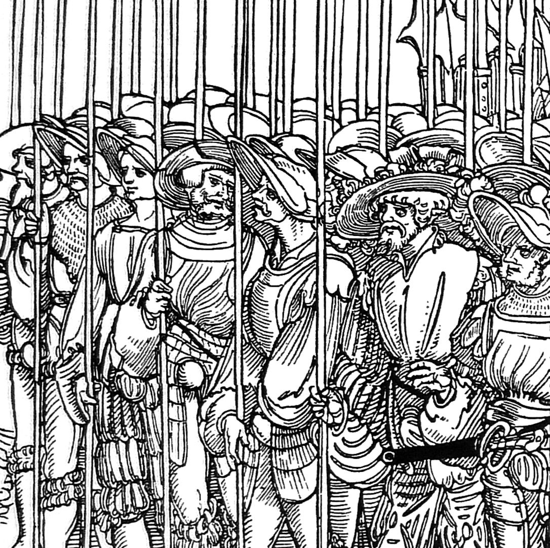The siege of Munster Fifth seventh, detail