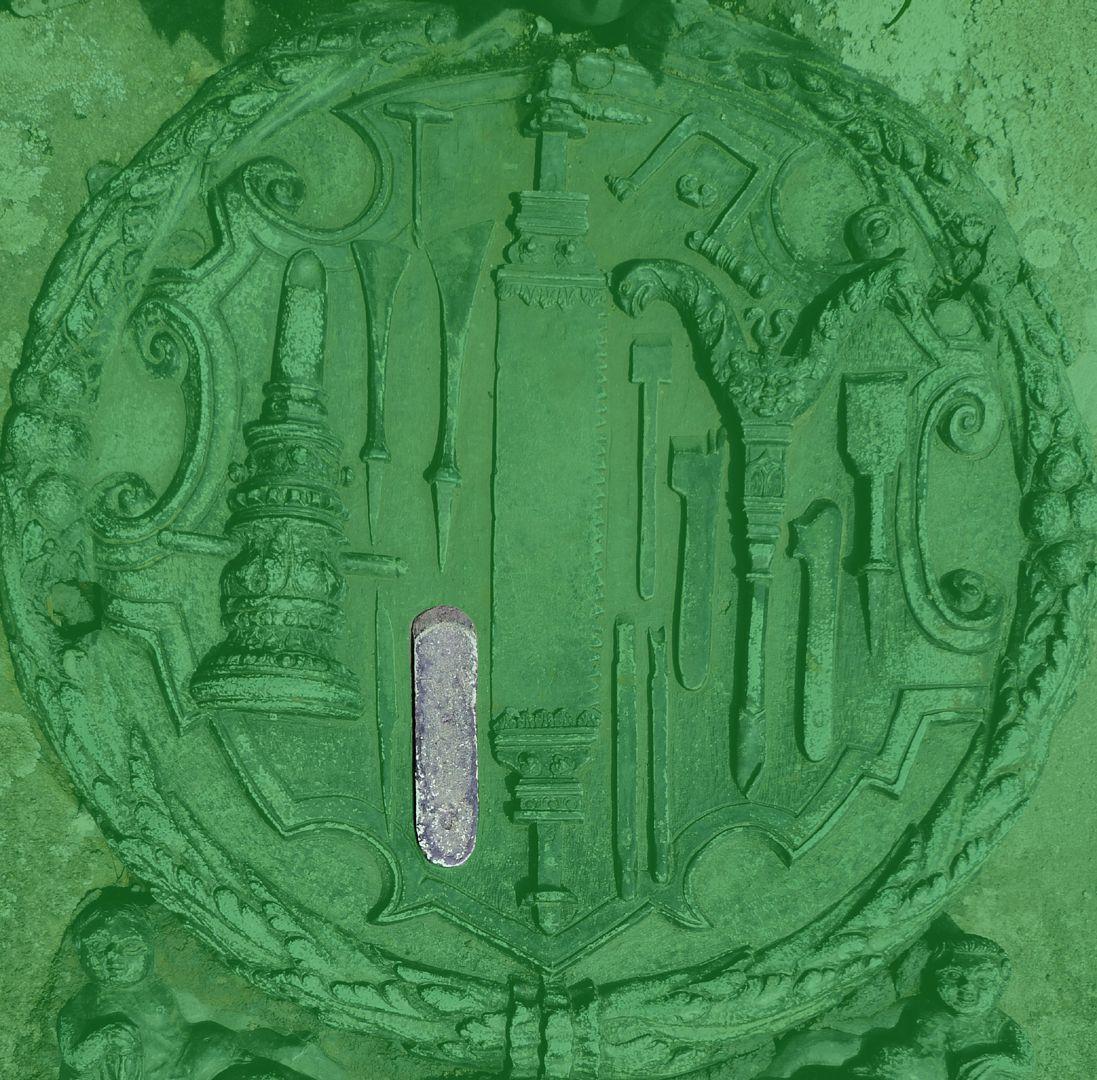 Epitaph des Eucharius Voytt Abziehstein zum Schärfen der Schneide oder ein Hobeleisen