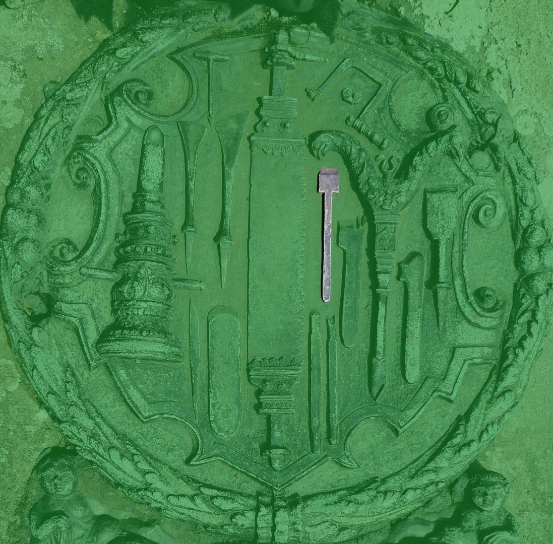 Epitaph des Eucharius Voytt Hobeleisen für Falzhobel