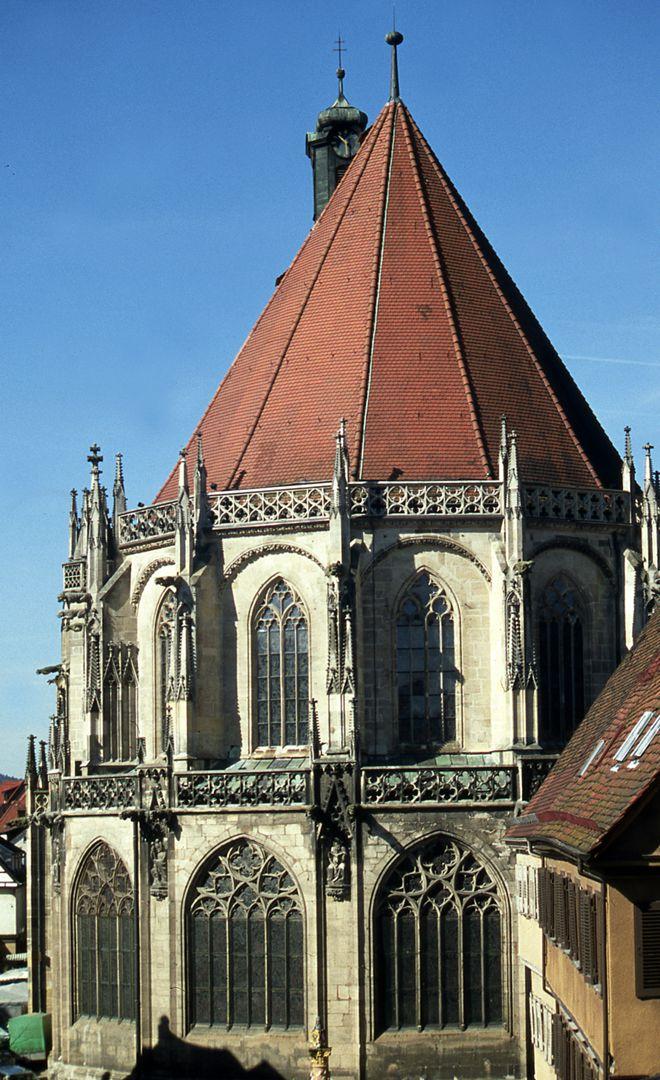 Minster of the Holy Cross in Schwäbisch-Gmünd Minster of the Holy Cross from the east
