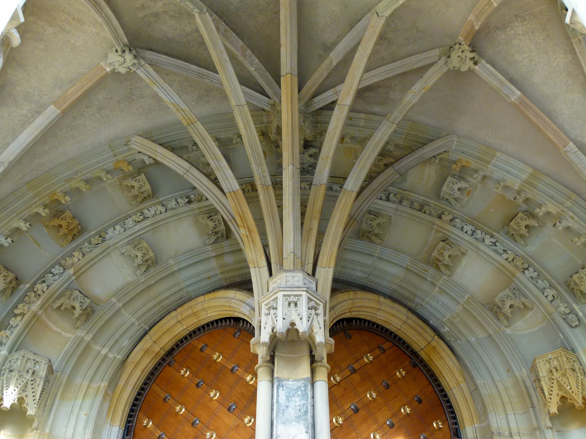 Prague, St. Vitus Cathedral Southern entrance hall, 1367-68, detail