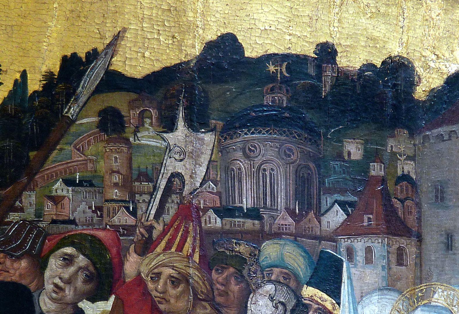 Thanhauser Epitaph rechte obere Bildecke mit Detailansicht von Jerusalem