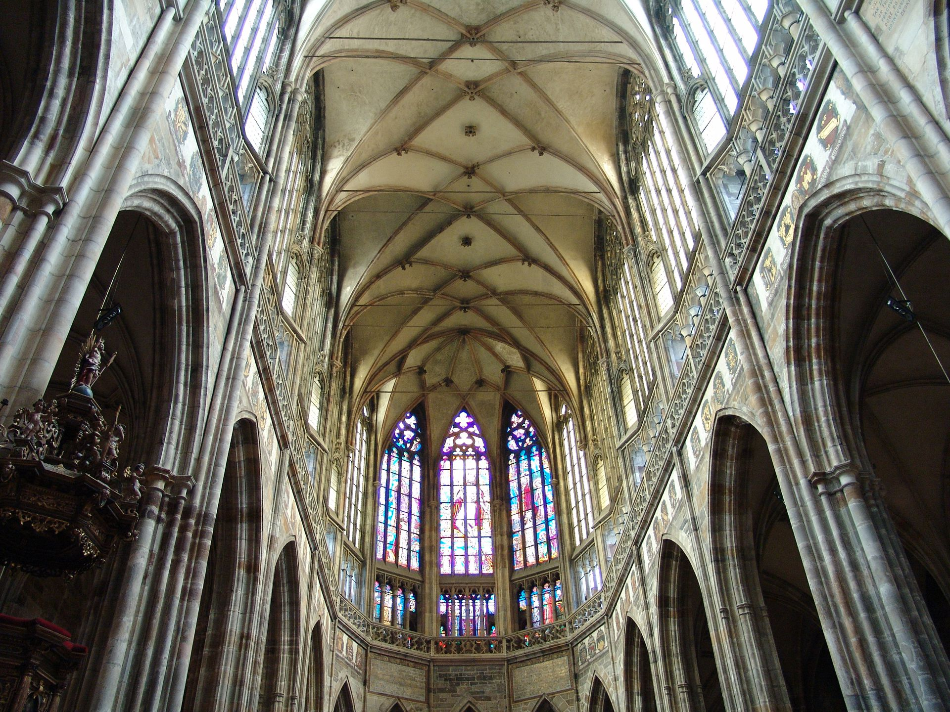 Prague, St. Vitus Cathedral High choir and vault. second half of the 14th century