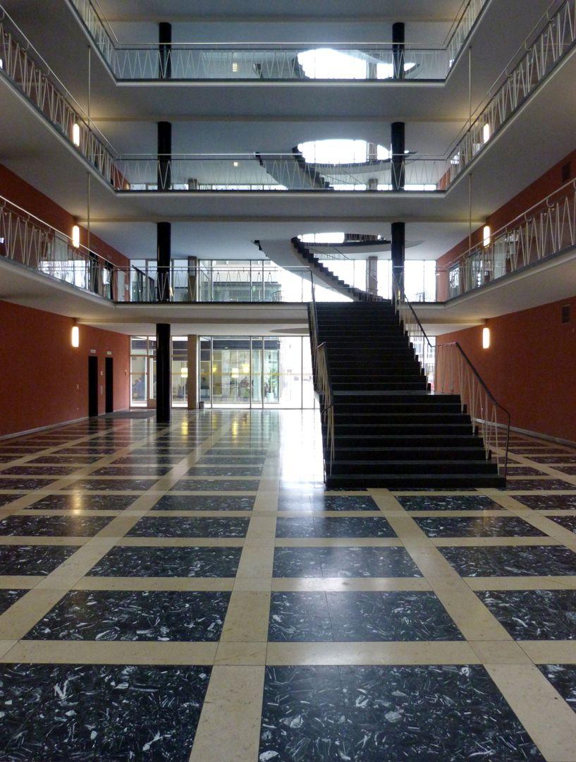 Herzog-Max-Burg, (Herzog-Max-Castle) Munich, Court Building Head-end-structure, ground floor, view to the stairwell