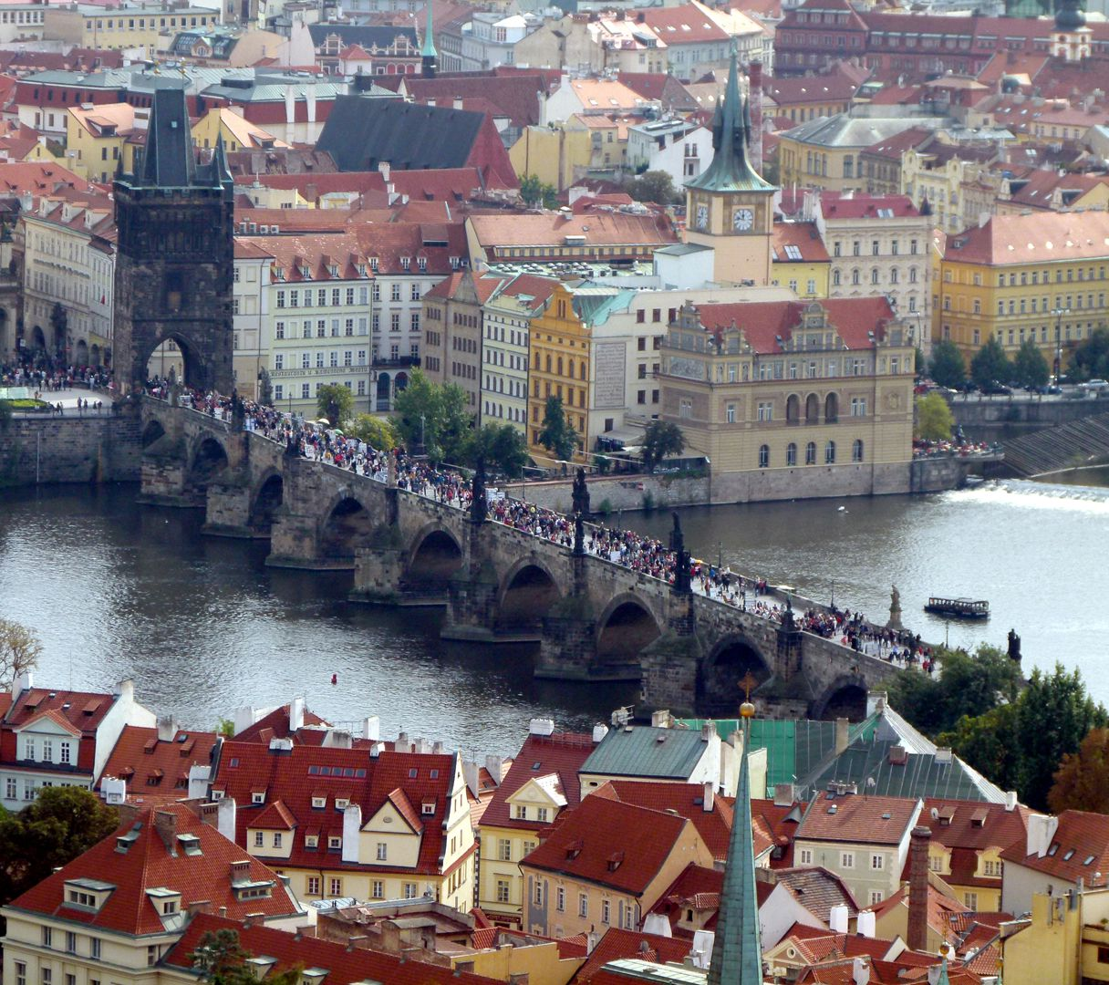 Prague, Charles Bridge View from the Hradschin