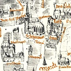 Kress´s map of Nuremberg with surrounding wall
