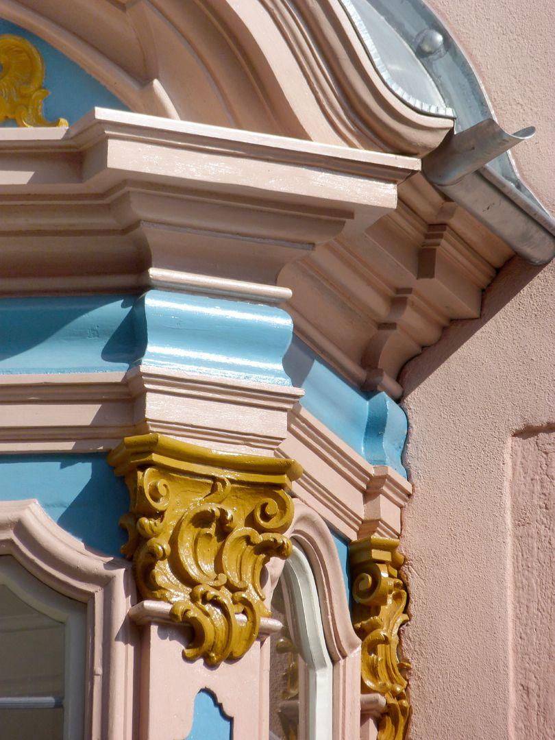 Adlerstraße 16, oriel window Detail