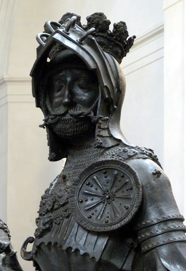 Albrecht of Habsburg (Innsbruck) Bust with rosette on the front side of the breast plate