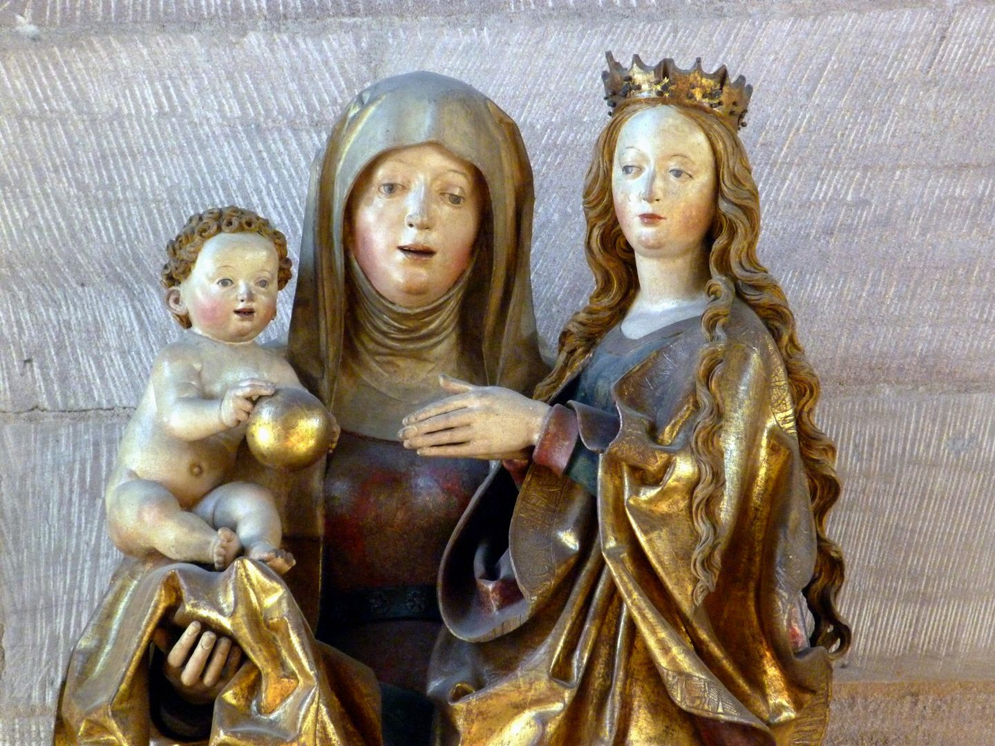 St. Anne with the Virgin and Child obere Hälfte der Figurengruppe