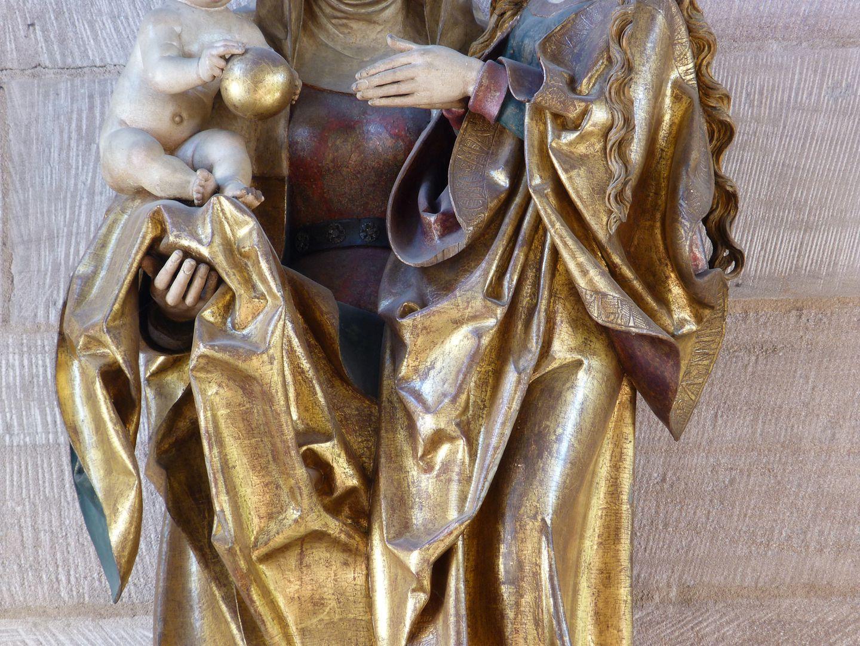 St. Anne with the Virgin and Child Detail der Faltenführung