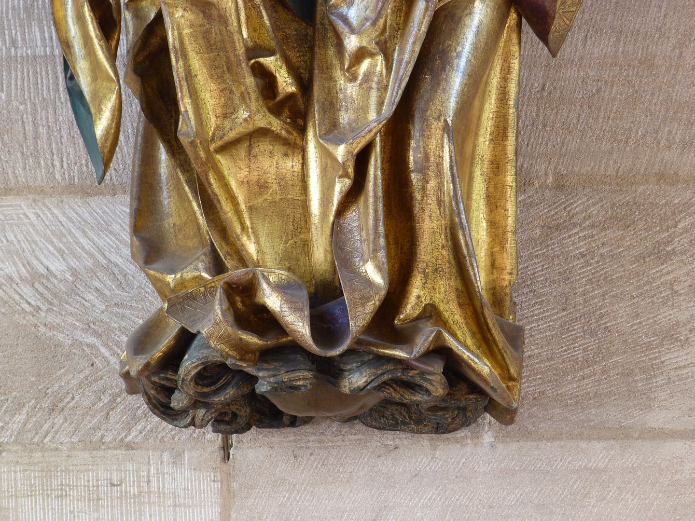 St. Anne with the Virgin and Child untere Gewänder