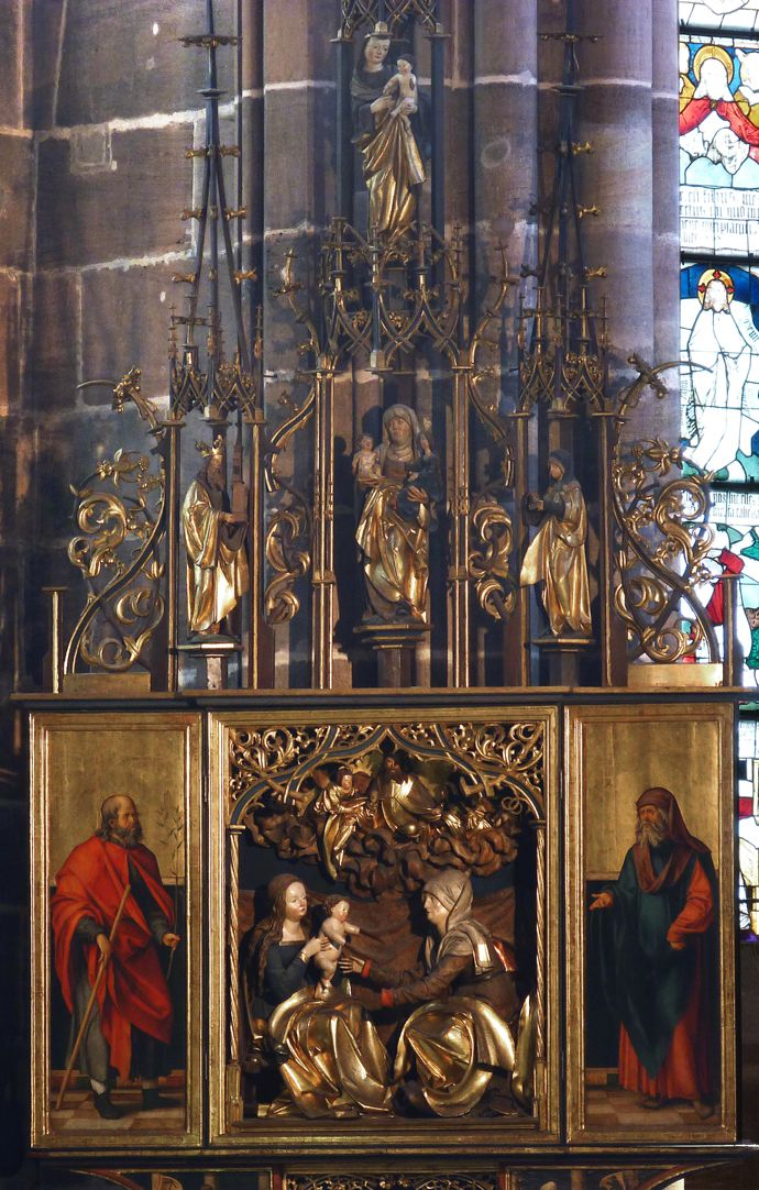St. Anne´s Altar Winged Altar, opened,  with pinnacle