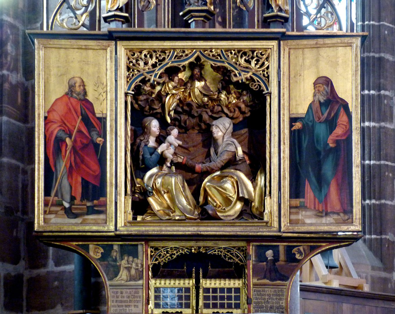 St. Anne´s Altar Open altar with predella