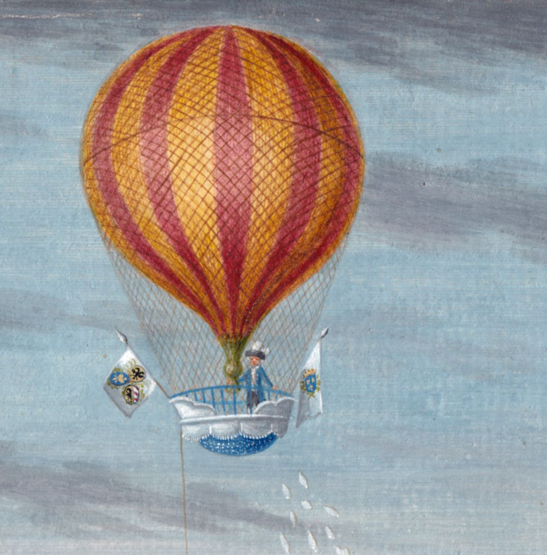 The ascent of the auronaut Blanchard from Judenbühl (Jews´ Hill) Balloon