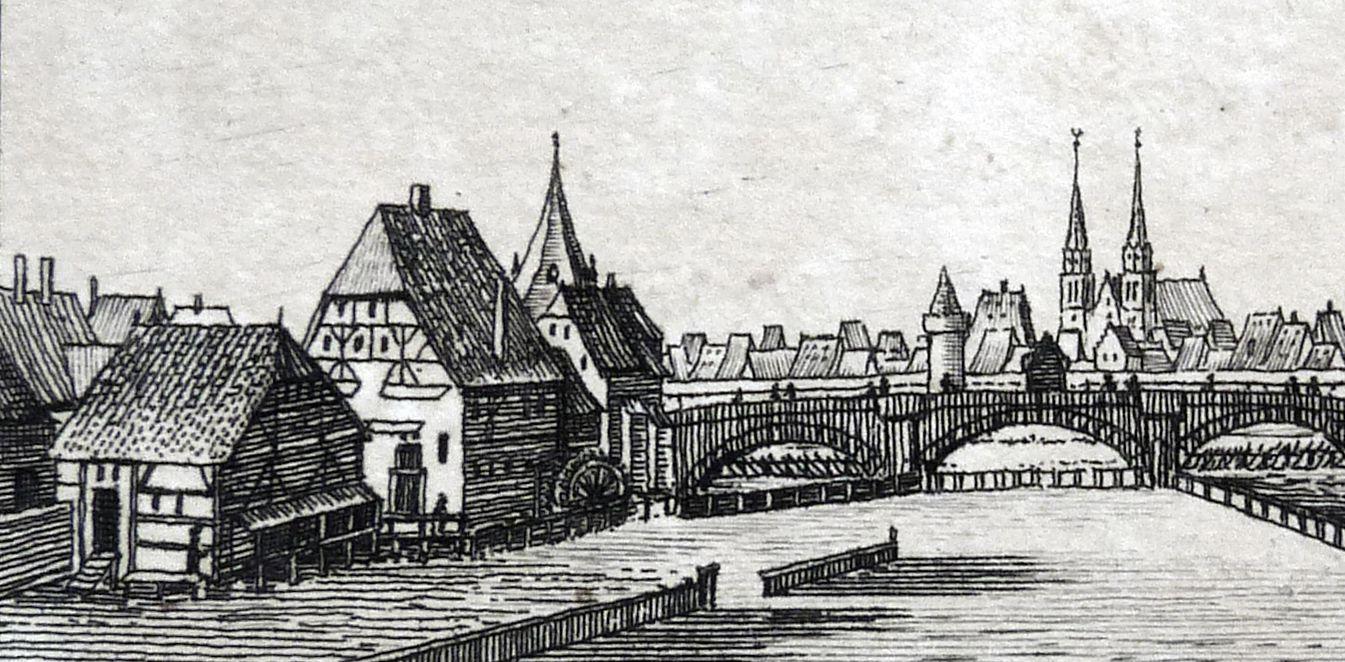 View from Trutensteg Negelein´s Mill and Stone Bridge