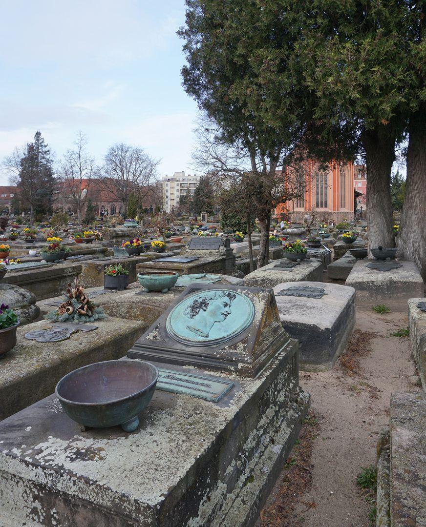 Anselm Feuerbach Grabstätte Lage im Gräberfeld