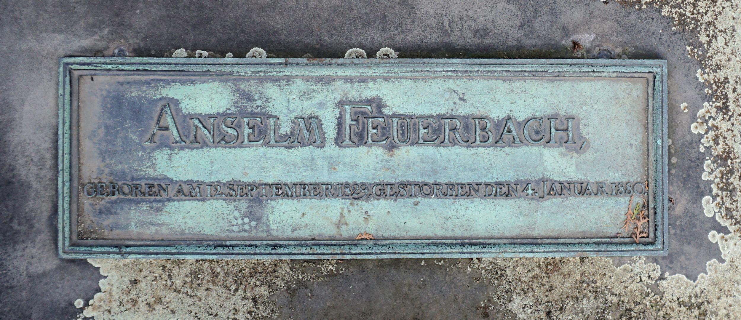 Anselm Feuerbach Grabstätte Inschrift