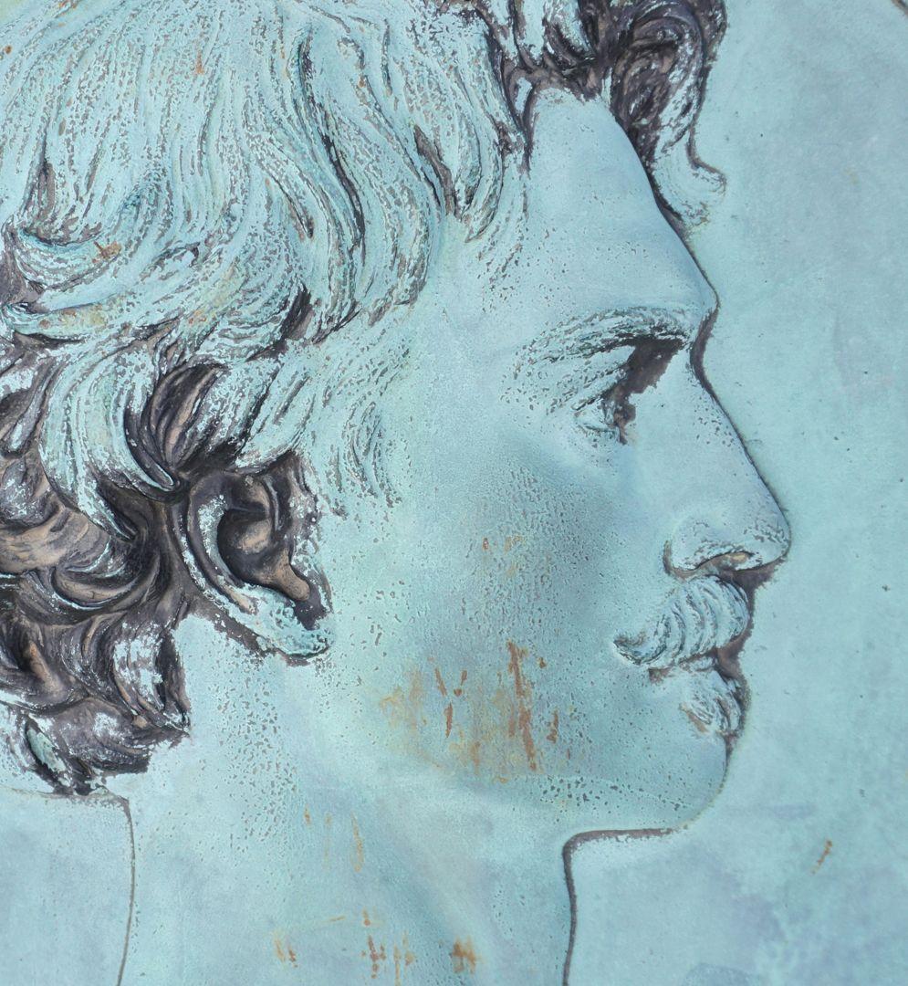 Anselm Feuerbach Grabstätte Portrait des Künstlers nach seinem Selbstbildnis von 1875 (Staatsgalerie Stuttgart), Detail