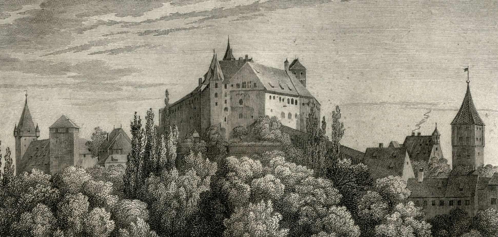 View of the Nuremberg Castle Upper half of the picture