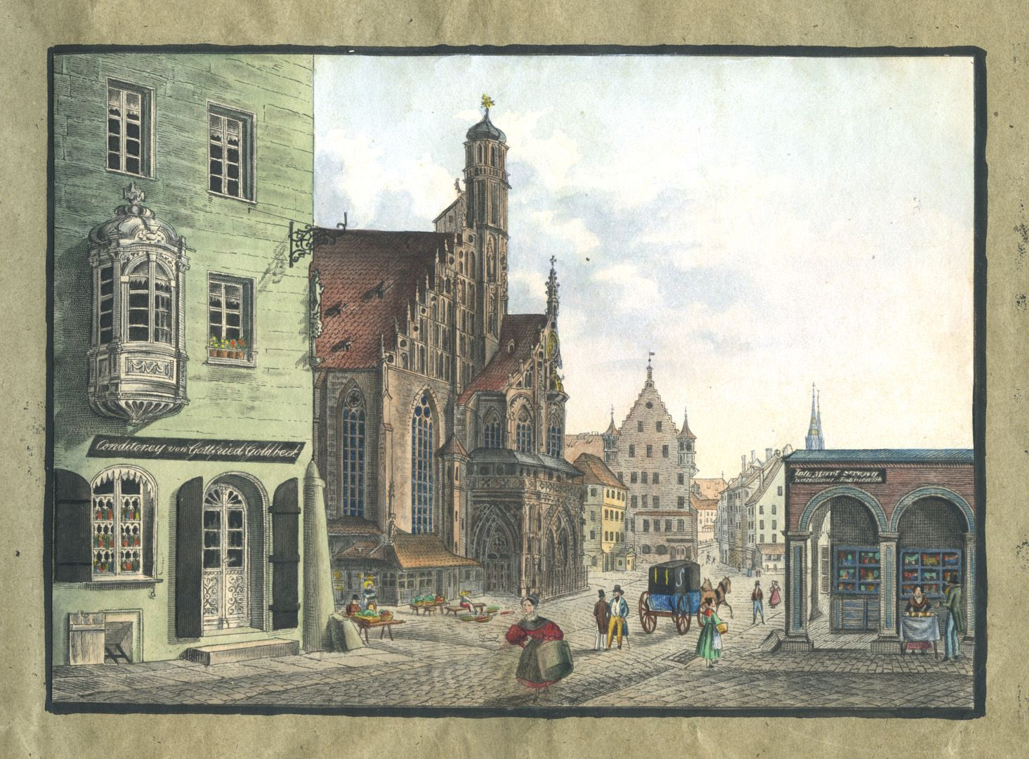 """Ansichten von Nürnberg und seinen Umgebungen """"Die Frauenkirche in Nürnberg"""""""