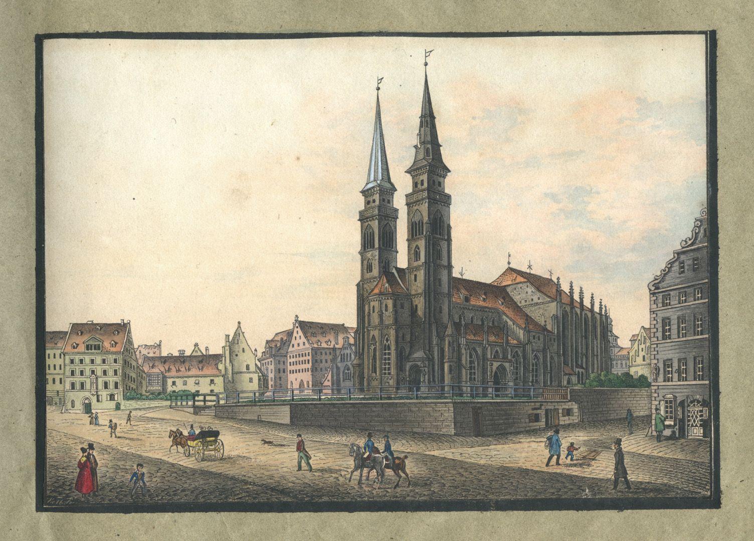 """Ansichten von Nürnberg und seinen Umgebungen """"Die St. Sebalduskirche in Nürnberg"""""""