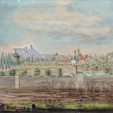 Rosenau with view to the castle and the old city of St. Sebald
