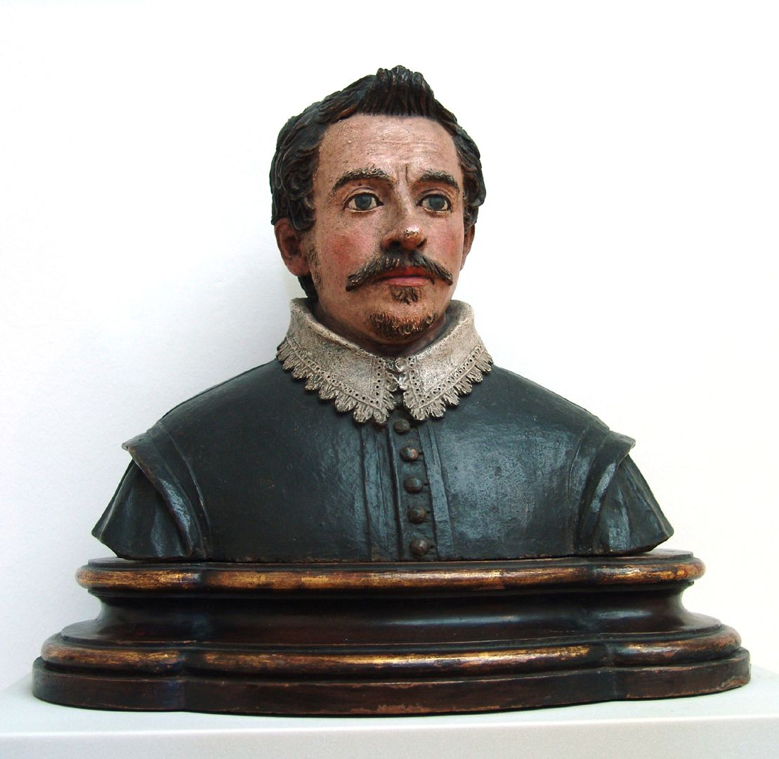 Bust of an unknown man Front view of the fully three-dimensional bust