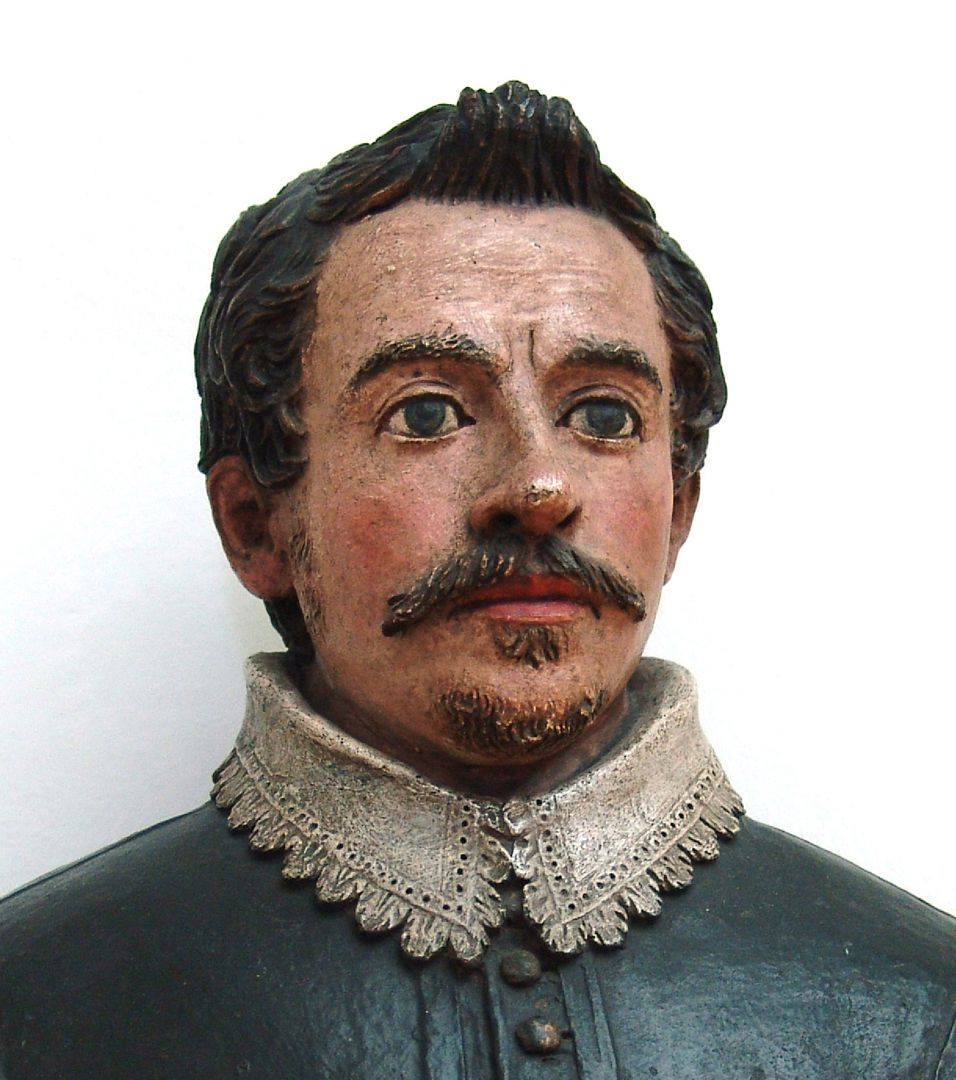 Bust of an unknown man Front view of the fully three-dimensional bust, detail