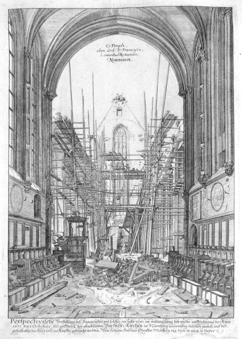 """""""Urbis Norimbergensis Insigniorum Templorum…"""" Church of the Discalced Franciscans"""