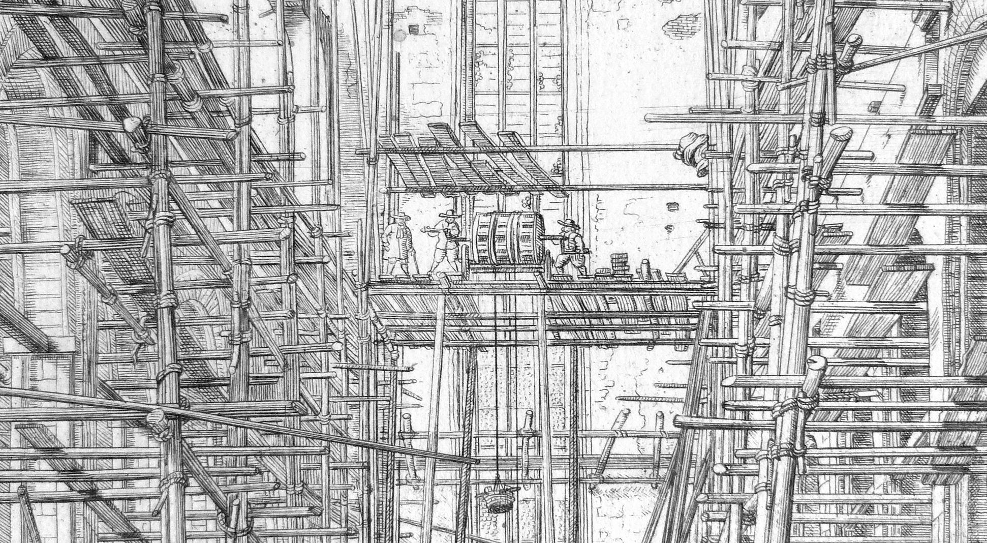 """Urbis Norimbergensis Insigniorum Templorum…"" Church of the Discalced Franciscans Upper half of the picture, detail"