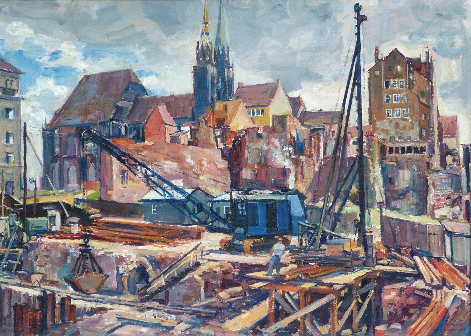 Building site at St. Lorenz Church