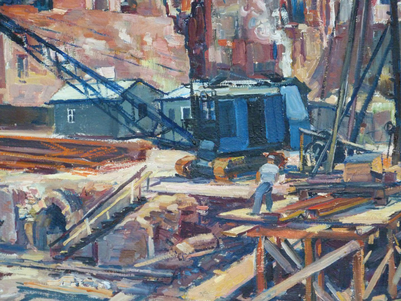 Building site at St. Lorenz Church Detail