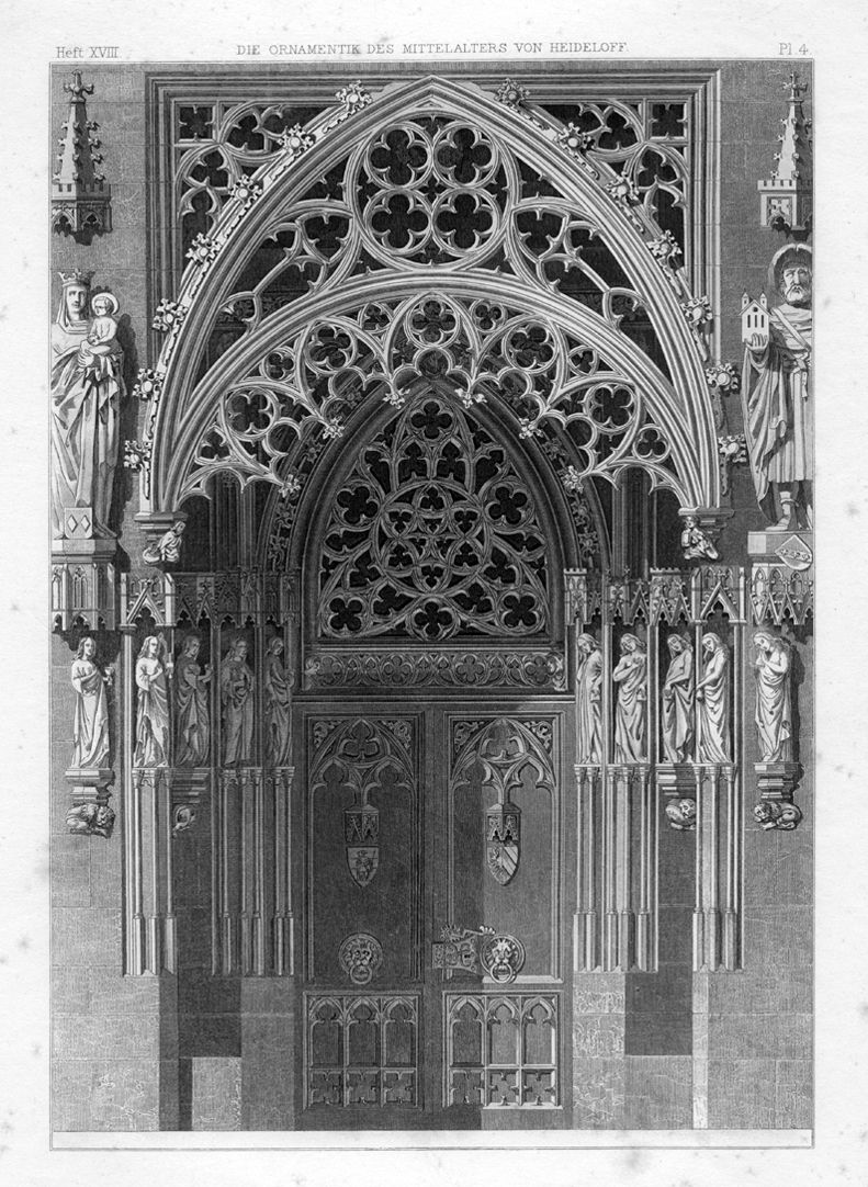 Ornamentation in the Middle Ages Brides´portal of St. Sebald-Church