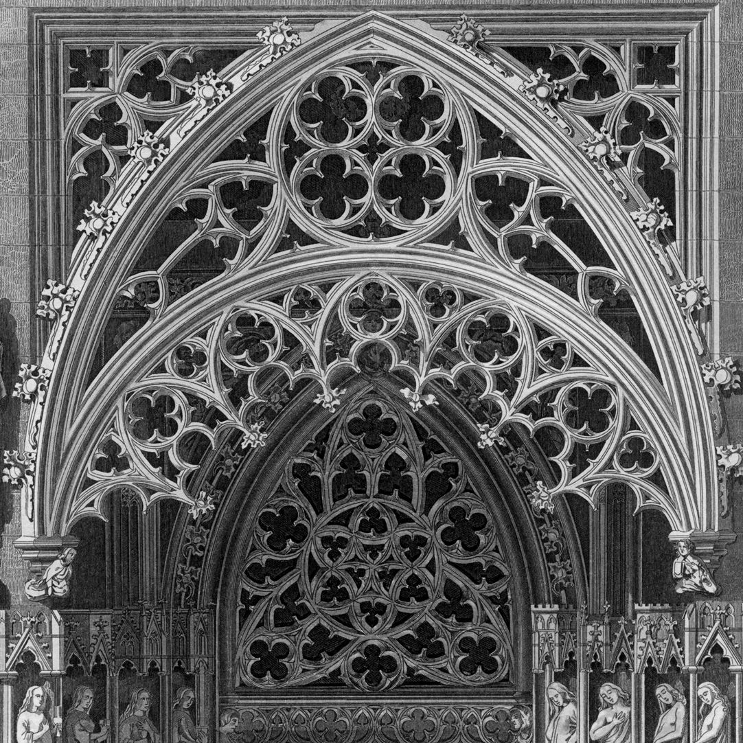 Ornamentation in the Middle Ages Brides´portal of St. Sebald-Church, detail