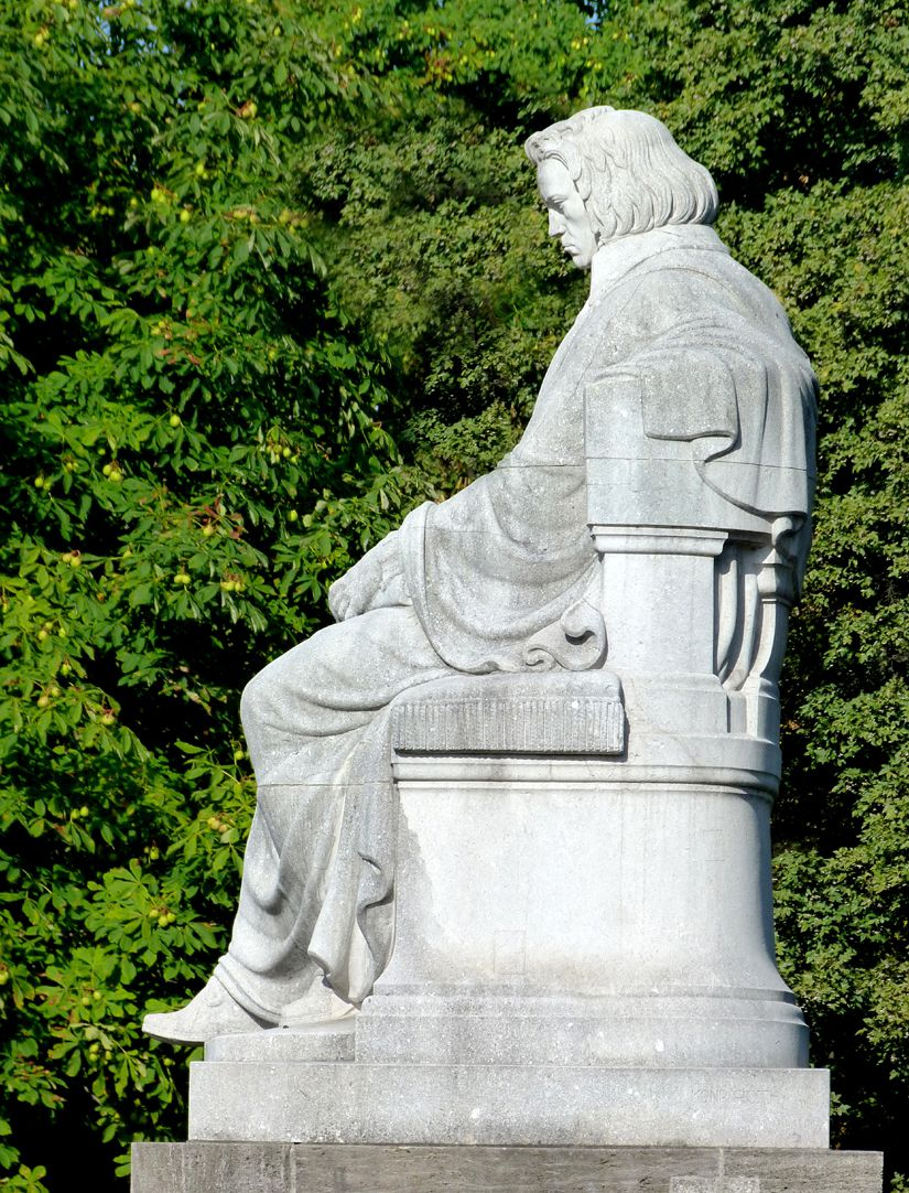 Beethoven Memorial Sitting figure from the east