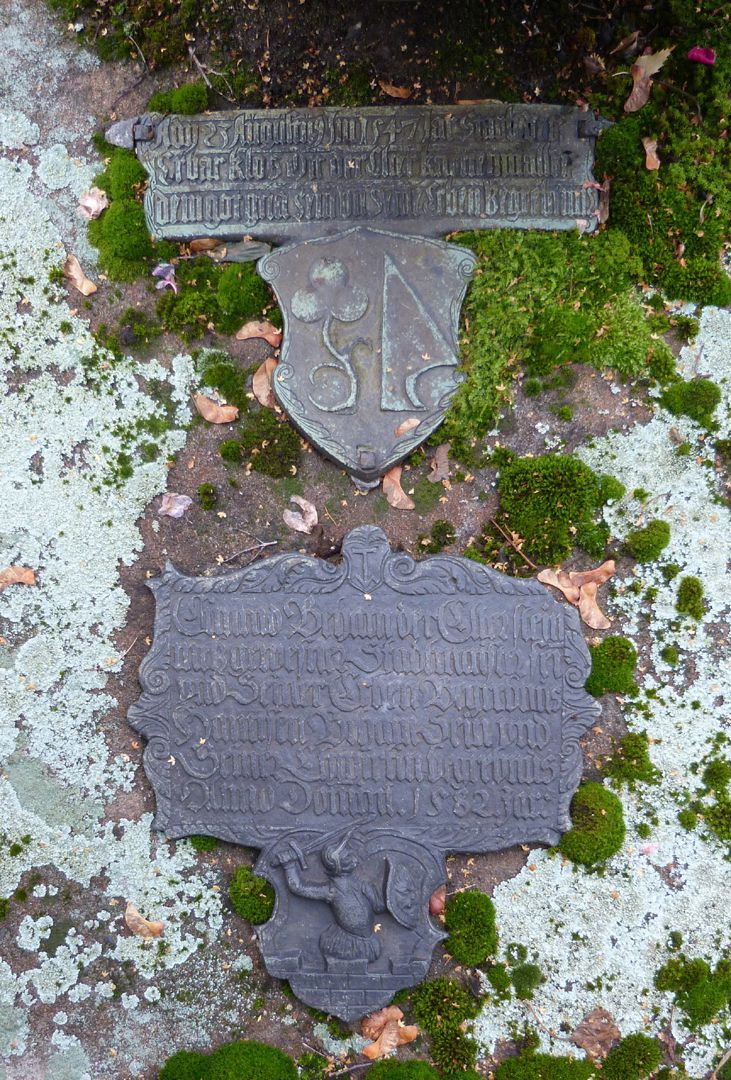 Behaim the Elder, Hans: Epitaph Epitaph of Behaim from 1582