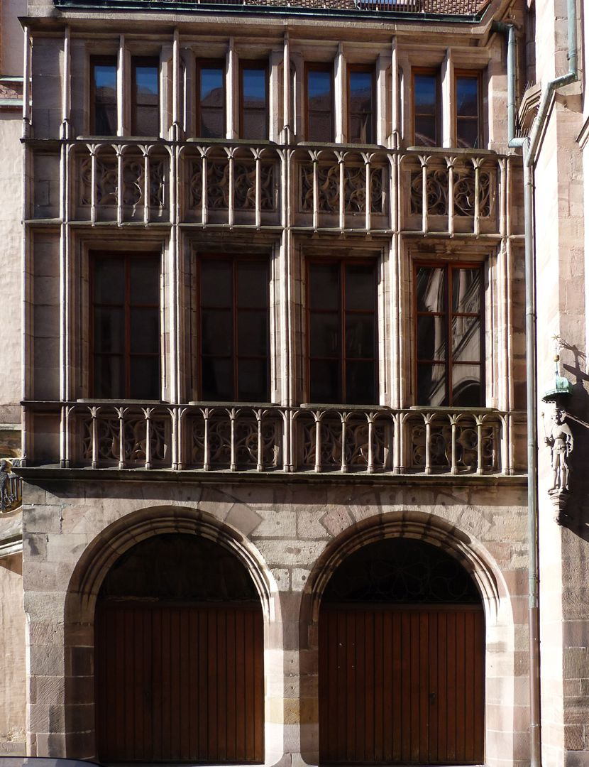 Building with Parlors for the Municipal Council Front of the Parlors for the Municipal Council with arcades for passage
