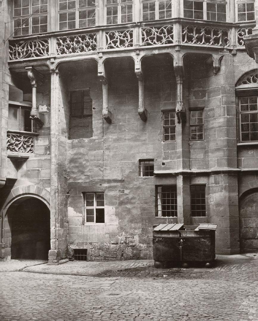 Nuremberg, Old City Hall, Photo document Great inner court yard