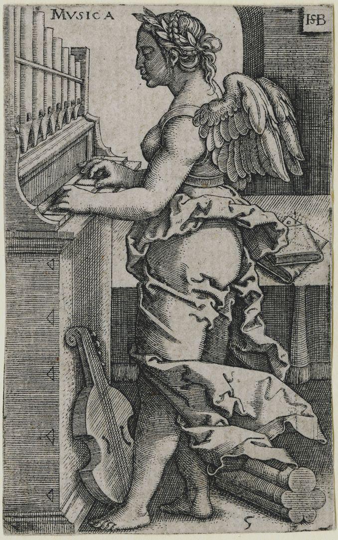 The seven liberal Arts Musica, 89 x 55 mm